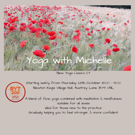 What's on at Newton Regis Village Hall - Yoga with Michelle